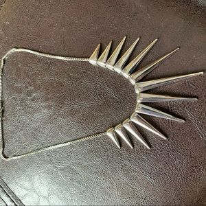 Amazing silver spike necklace